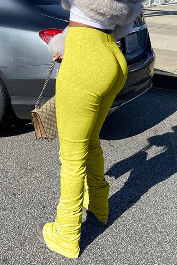 Lovely Stylish Basic Skinny Yellow Pants