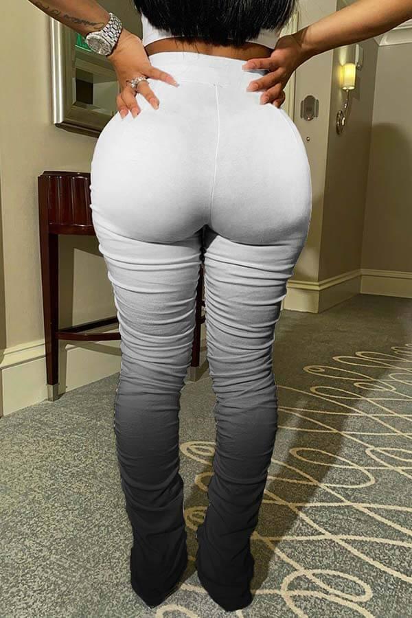 LW Casual Fold Design Black Pants