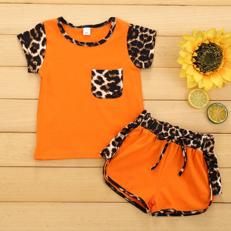 Lovely Stylish Patchwork Orange Girl Two-piece Sho