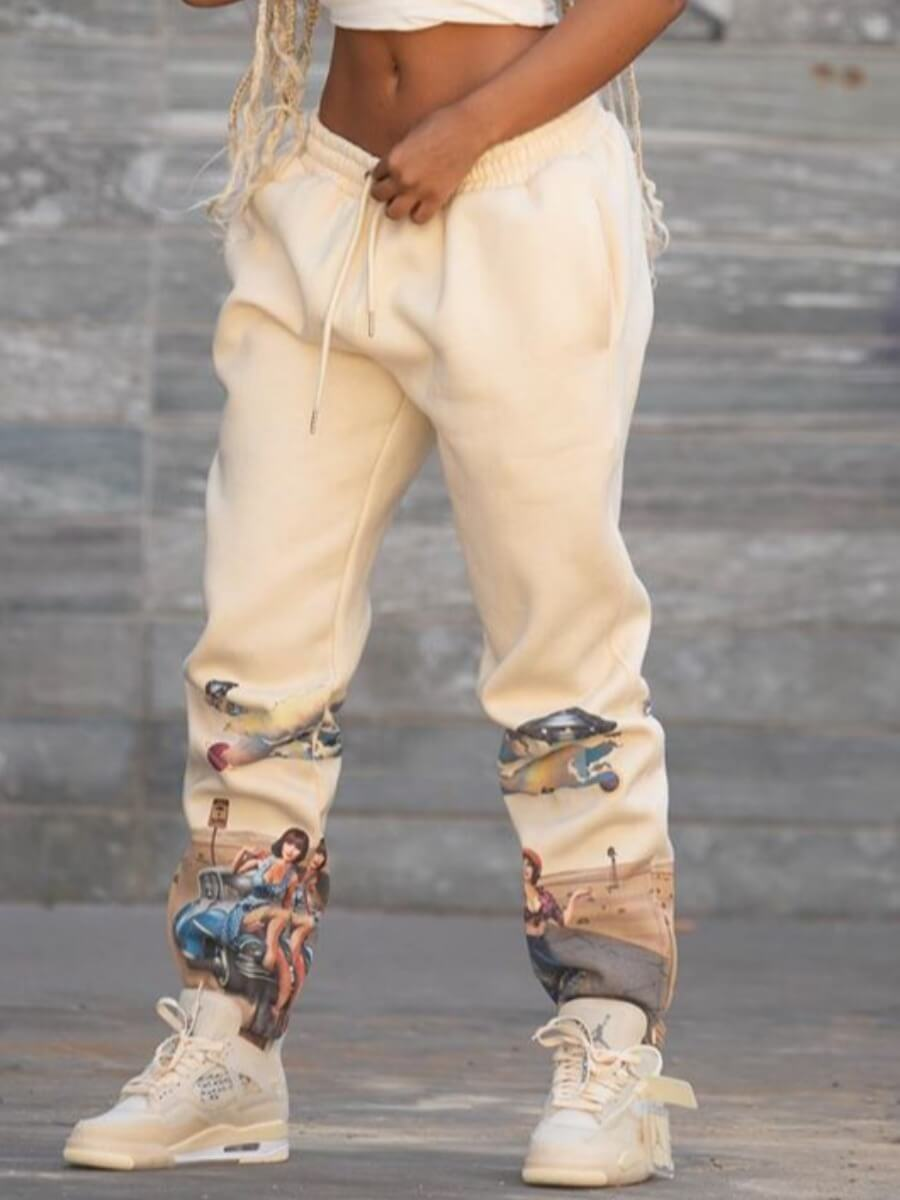 LW BASICS Print Loose Pants